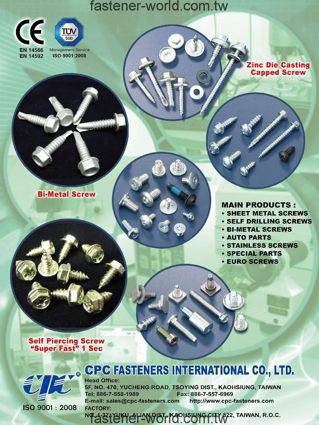 CPC FASTENERS INTERNATIONAL CO.,LTD.  Online Catalogues