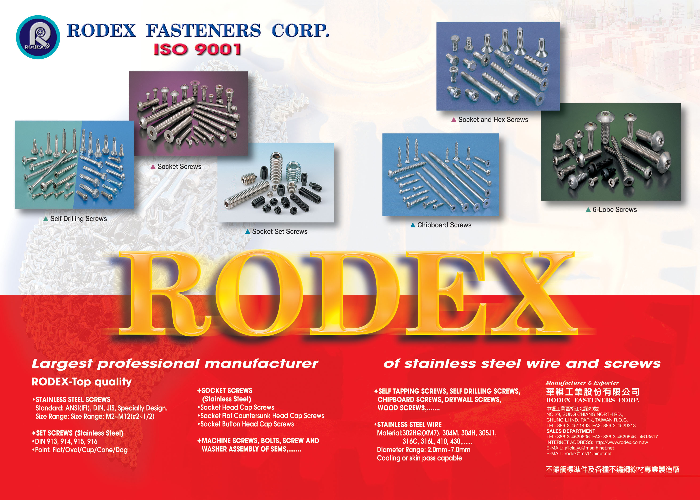 RODEX FASTENERS CORP. Online Catalogues
