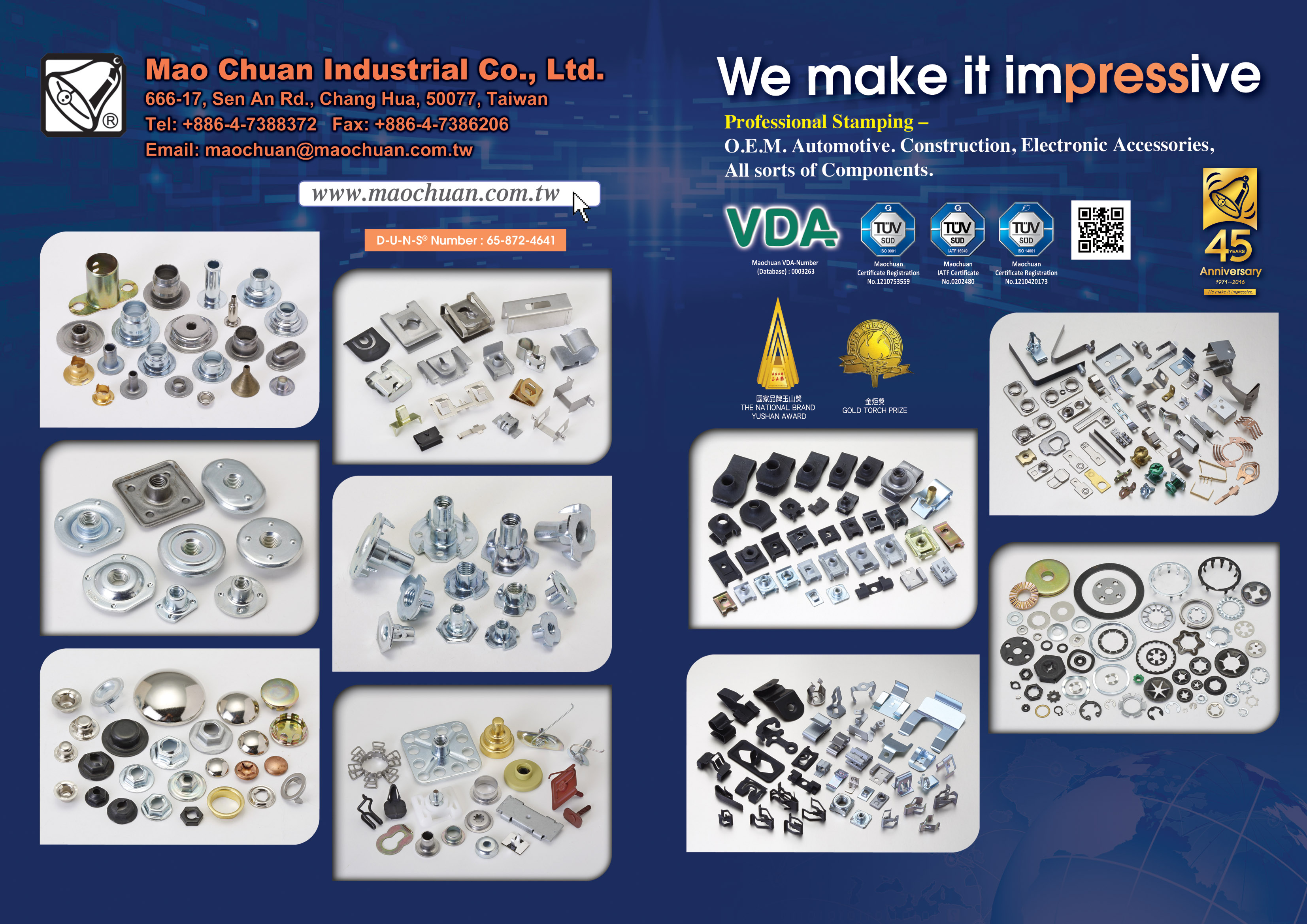 MAO CHUAN INDUSTRIAL CO., LTD. Online Catalogues