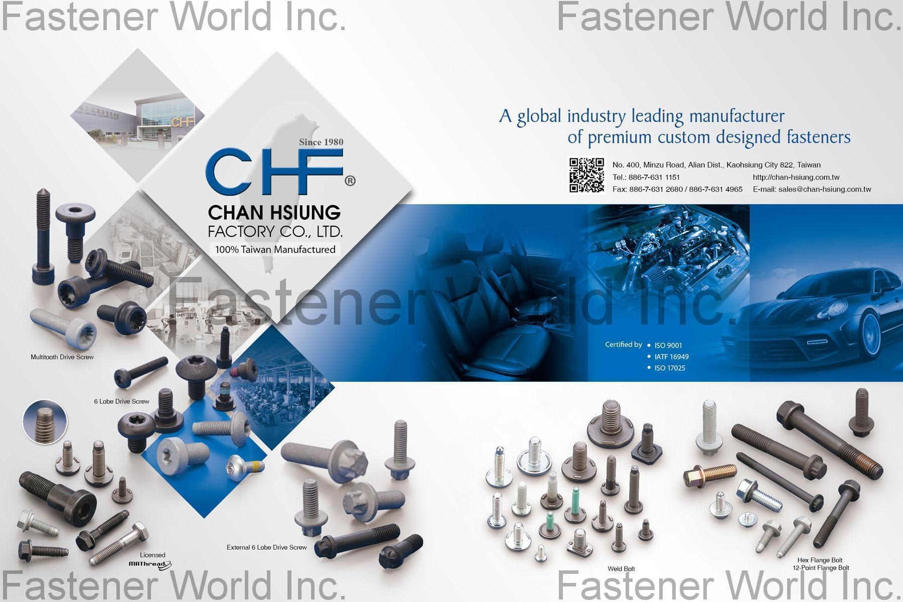 CHAN HSIUNG FACTORY CO., LTD.