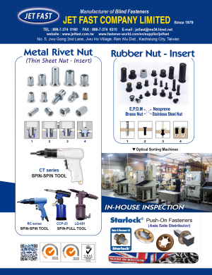 Rubber Nut - Insert, Nylon Nut - Insert, Blind Rivet Nut