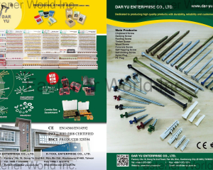 Chipboard Screw, Decking Screw, Roofing Screw, Timber Screw, Wood Screw, Concrete Screw, Self-Tapping Screw, Self-Drilling Screw, Nylon Plug, PE Plug(DAR YU ENTERPRISE CO., LTD. )