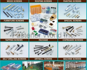 Wood Screws, Furniture Screws, Tapping Screws, Self Drilling Screws, Roofing Screws, Drywall Screws, Painting Screws(MASTER UNITED CORP. )