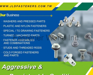 Washers and Pressed Parts, Plastic and Nylon Fasteners, Special / To Drawing Fasteners, Turned / Machined Parts, Fastener Assemblies and Combinations, Studs and Threaded Rods, Cold Forged Fastener and Parts(JI LI DENG FASTENERS CO., LTD.)