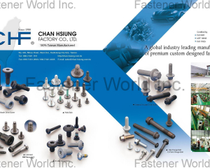 Weld Bolt, Multitooth Drive Screw, Hex Flange Bolt ,12-Point Flange Bolt, MAThread, 6 Lobe Drive Screw, External 6 Lobe Drive Screw(CHAN HSIUNG FACTORY CO., LTD. )