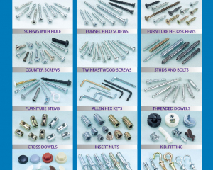 Furniture Screw, Connecting Screw, Euro Screw, Screw with Hole, Funnel Hi-Lo Screw, Counter Screw, Twinfast Wood Screw, Studs and Bolts, Allen Hex Keys(MASTER UNITED CORP. )