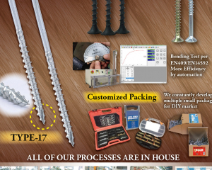Chipboard Screws, Drywall Screws, Customized Packing, Type-17(EASYLINK INDUSTRIAL CO., LTD.)