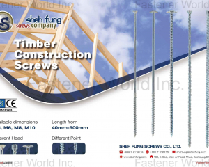 Timber Construction Screws(SHEH FUNG SCREWS CO., LTD. )