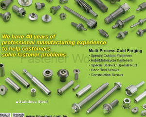 Special Custom Fasteners, Auto/Motorcycle Fasteners, Special Screws…(JIN-YINGS ENTERPRISE CO., LTD.)