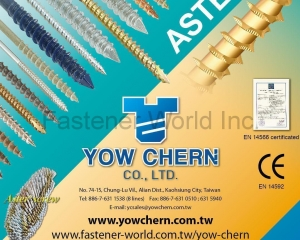 Aster Screw for Wood Working, Furniture, Construction(YOW CHERN CO., LTD. )