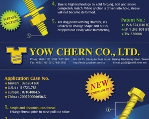 New Wedge Bolt for Concrete(YOW CHERN CO., LTD. )